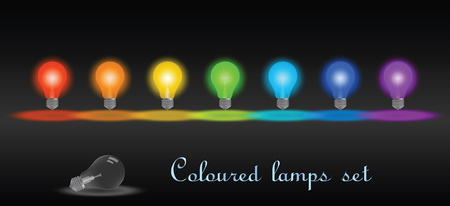 Colored lamps set