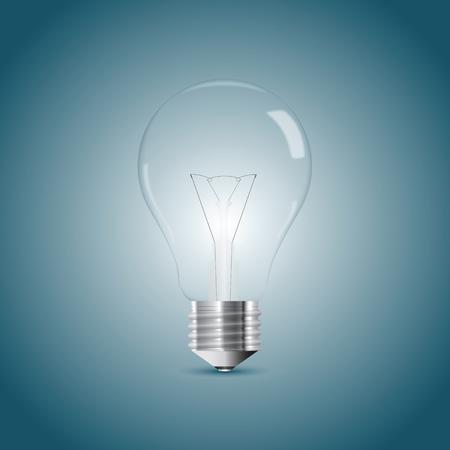 Bulb lamp realistic illustration. Vector illustration, eps10