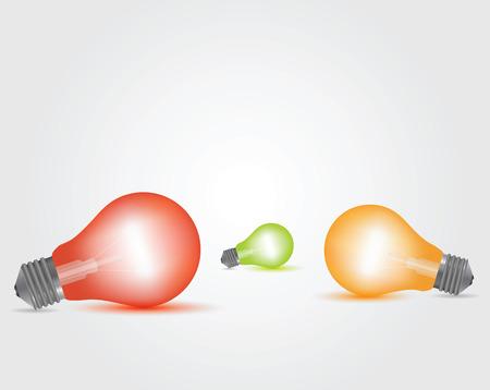 Vector Colorful Light Bulbs set Banque d'images - 102882358