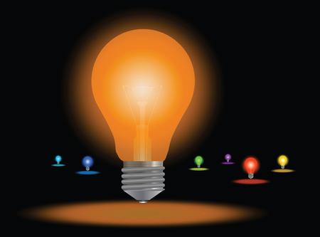 Colored lamps set Banque d'images - 102882357