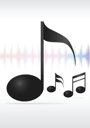 Music note. Vector illustration