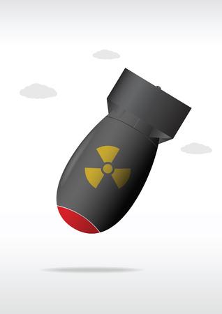 Nuclear bomb. Vector illustration Illustration