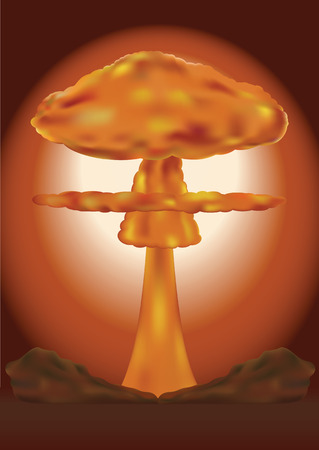 Nuclear bomb explosion. Vector illustration Banque d'images - 102882471
