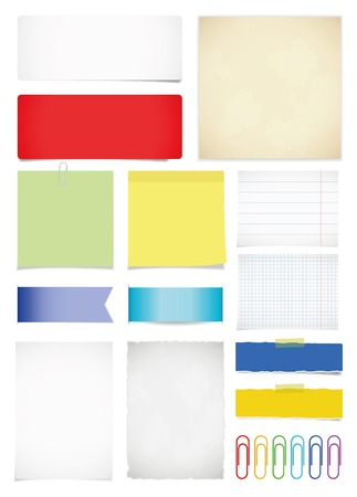 Paper set. Vector illustration, eps10