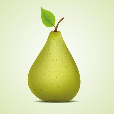 Green pear. Vector illustration, eps10 Ilustração
