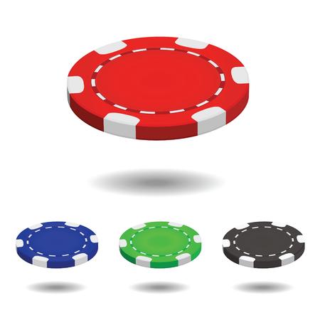 Poker chip. Vector illustration
