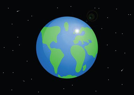 Planet Earth. Cartoon vector illustration Ilustração