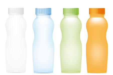 Set of plastic bottles. Vector illustration Illustration