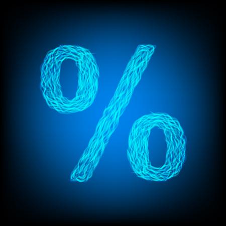 Water percent sign. Vector illustration Ilustração
