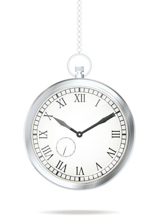 Old silver watch. Vector illustration, eps10