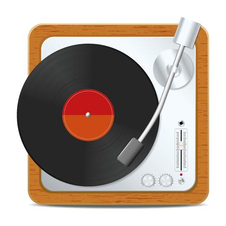 Square turntable. Vector illustration, eps10 Ilustração