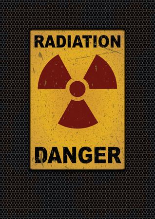 Radiation sign grunge background. Vector illustration, eps10 Ilustração