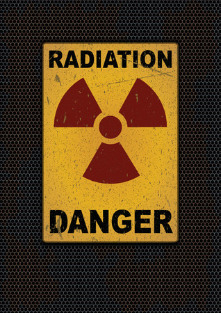 Radiation sign grunge background. Vector illustration, eps10 Illustration
