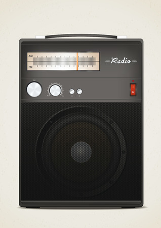 Retro radio. Vector illustration, eps10 Ilustração