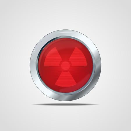 Biohazard icon. Vector illustration, eps10