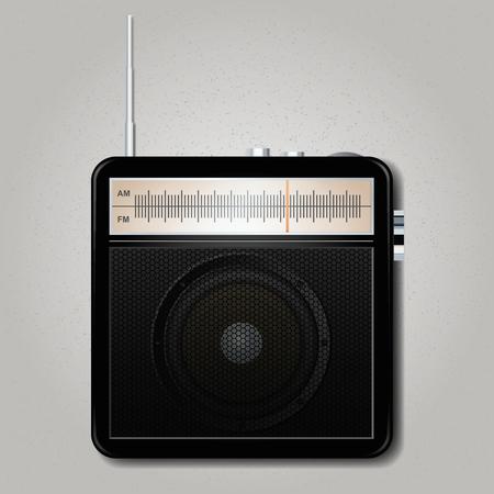 Square retro radio. Vector illustration, eps10 Ilustração