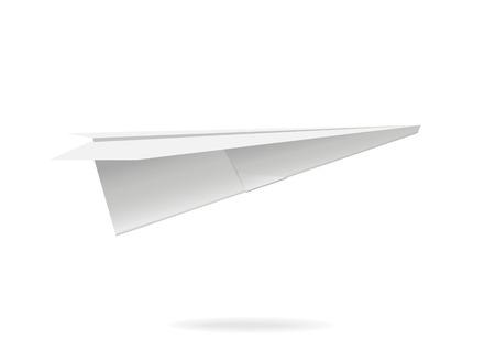 Colorful paper airplane. Vector illustration, eps10 Ilustração