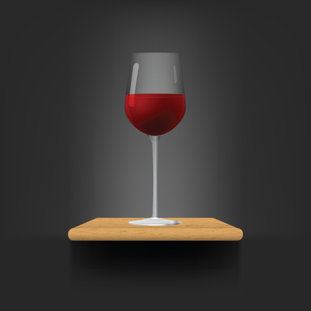Glass of red wine. Vector illustration, eps10