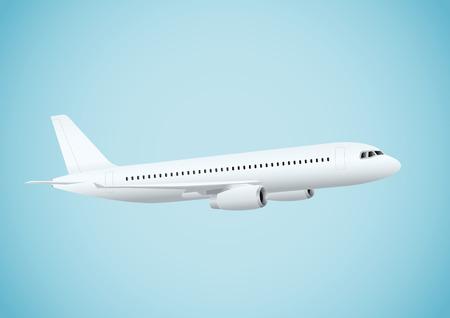 Plane in blue background. Vector illustration, eps10 Ilustração