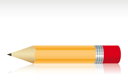 Isolated small pencil. Vector illustration