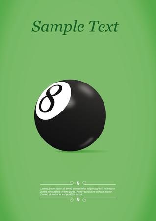Pool ball. Vector illustration Ilustração