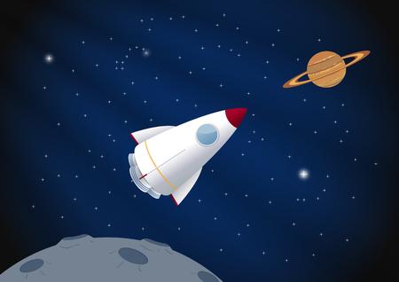 Toy rocket background. Vector illustration, eps10 Ilustração