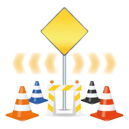Traffic signs set. Vector illustration, eps10