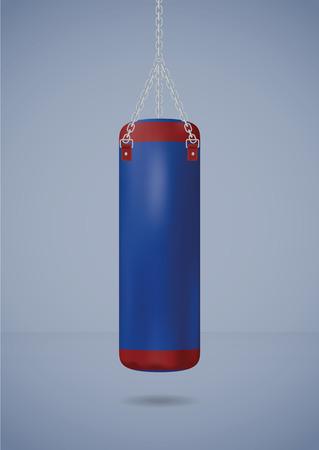 Big punching bag. Vector illustration, eps10 Ilustração