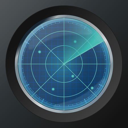 Radar icon. Vector illustration, eps10 Ilustração