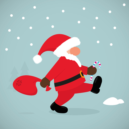 Funny Santa Claus. Vector illustration, eps10 Banco de Imagens - 102882983