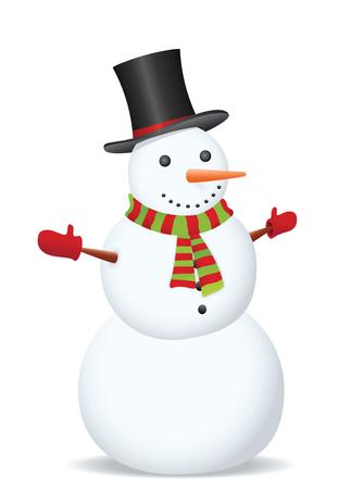Bonhomme de neige. Illustration vectorielle