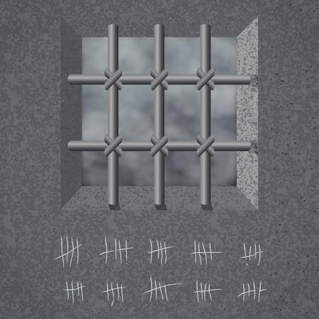 Prison background. Vector illustration, eps10