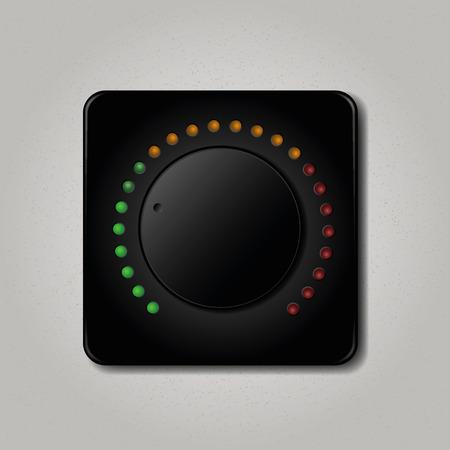 Square volume knob. Vector illustration