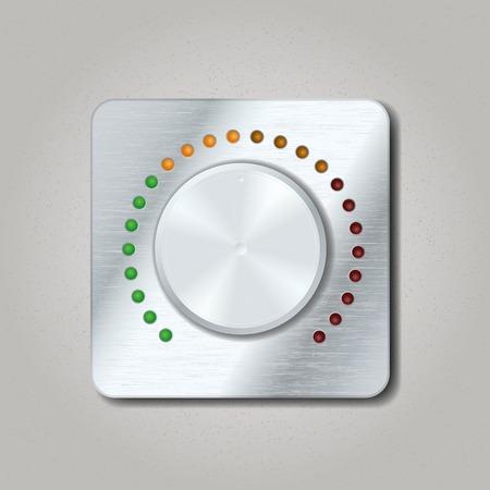 Square volume knob. Vector illustration Ilustração
