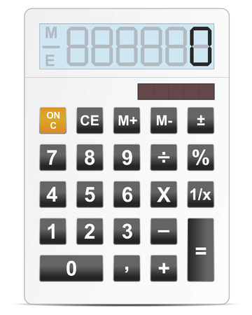 electronic calculator vector illustration