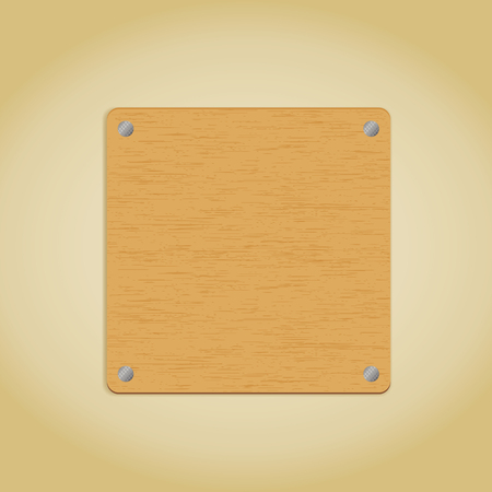 Wooden plate. Vector illustration