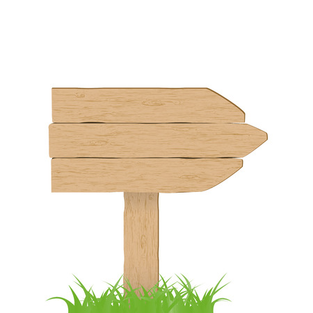 Wooden sign. Vector illustration