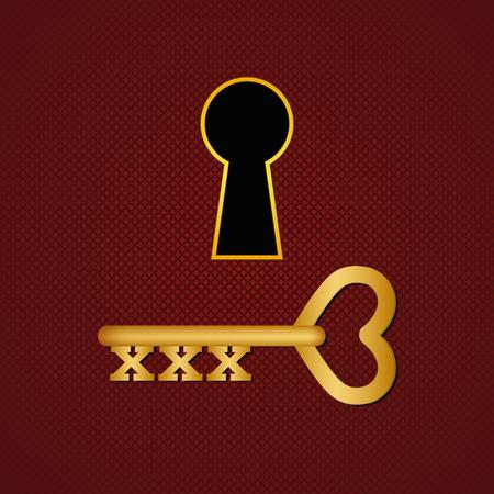 XXX key. Vector illustration