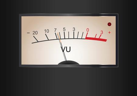 Analog VU Meter in vector Illustration