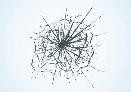 Broken glass. Vector illustration