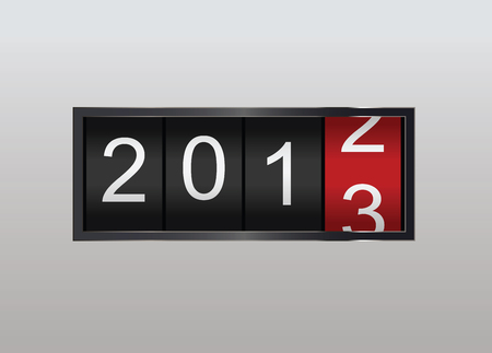 Classic counter in vector. Year counting 2013 Illustration
