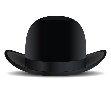 Bowler hat. Vector illustration Ilustração