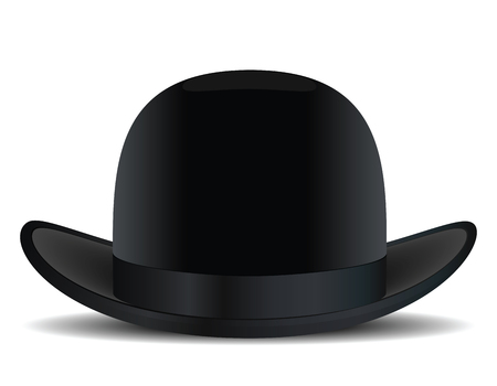 Bowler hat. Vector illustration Illustration