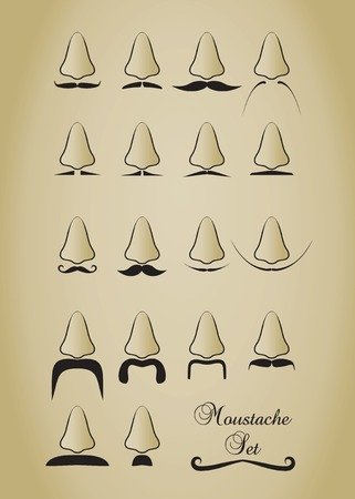 Mustache set. Vector illustration
