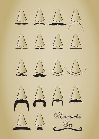 Mustache set. Vector illustration