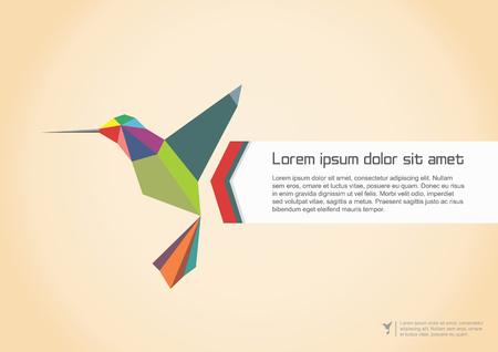 Abstract Colibri Illustration. Vector illustration
