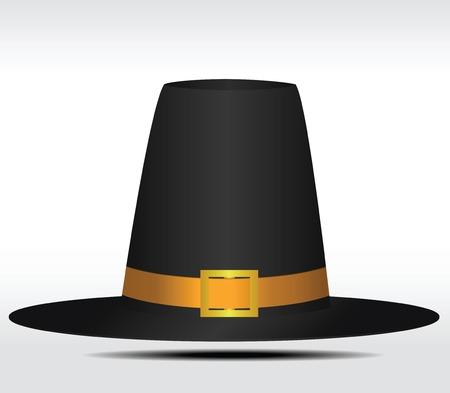 Gorgeous pilgrim hat. Vector illustration