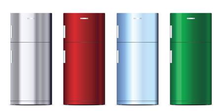 Set of colorful refrigerator