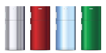 Set of colorful refrigerator Zdjęcie Seryjne - 102459181
