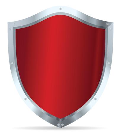 Red glossy steel shields